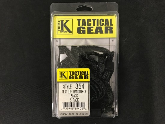 Triple K Tactical Gear textile handcuffs 5 pack
