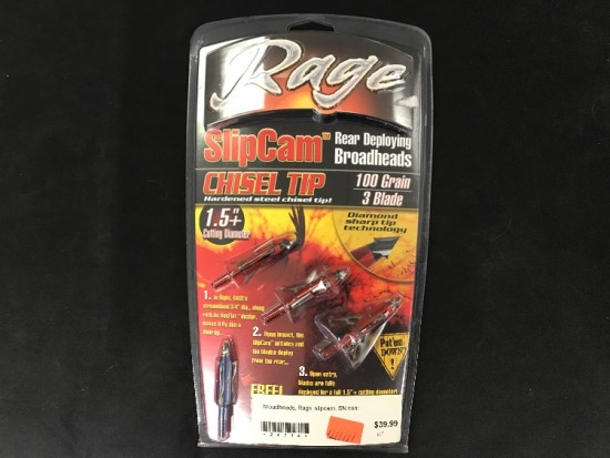 Rage slipcam chisel tip 1.5 cutting dia